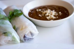 Delicious, healthy spring rolls.