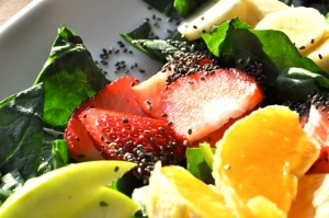Chia topper on salads