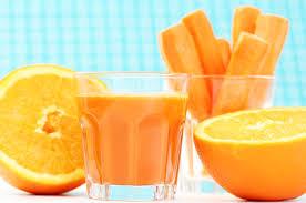 Delicious, fresh, carrot/orange juice.