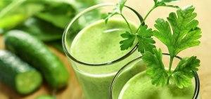 Green vegetable juices