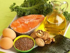 Foods with good fats.