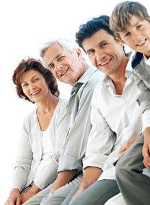 Healthy, happy family