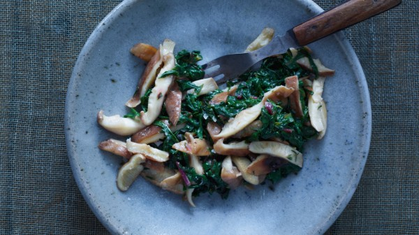 Swiss Chard with Shiitake Butter Recipe