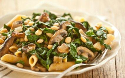 Greens, Mushroom, White Bean Ragout